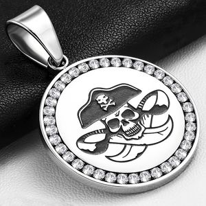 Stainless Steel 2-tone Pirate Captain Jack Sparrow